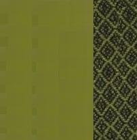 2651 zielony+wzór zielono/czarny