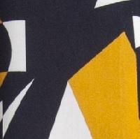 830 wzór czarny+żółty+biały